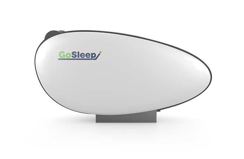 sleeping resting pod side view